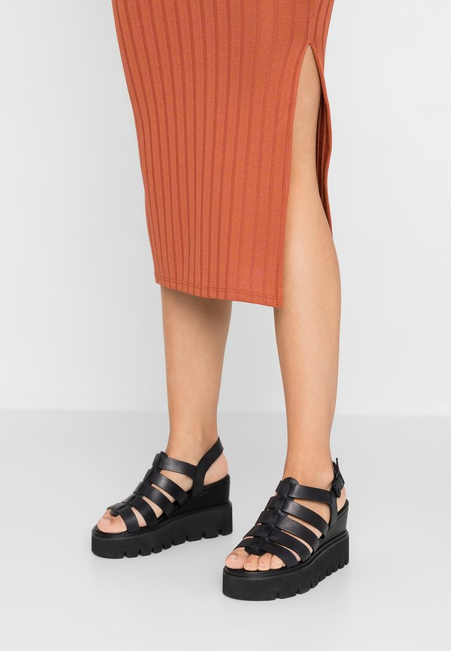 YOKE - High heeled sandals - black