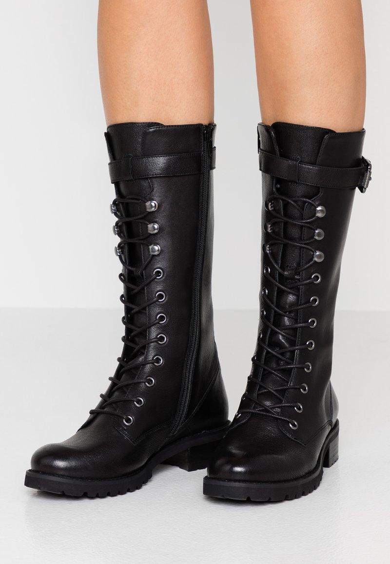 SPM - LOLACE - Snørestøvler - black