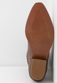Steven New York by SPM - INSTA FEATHER - Cowboy/Biker boots - cognac brown - 6
