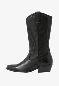 Steven New York by SPM - INSTA FEATHER - Cowboy/Biker boots - black - 1