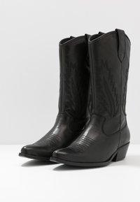 Steven New York by SPM - INSTA FEATHER - Cowboy/Biker boots - black - 4