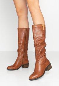 Steven New York by SPM - MONIE - Boots - cognac - 0