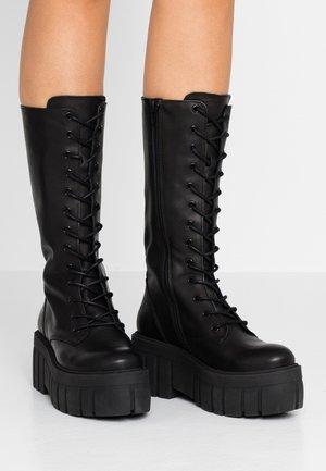 BONDA - Platåstøvler - black
