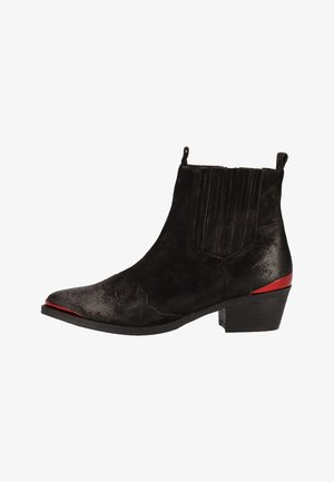Stiefelette - black/red