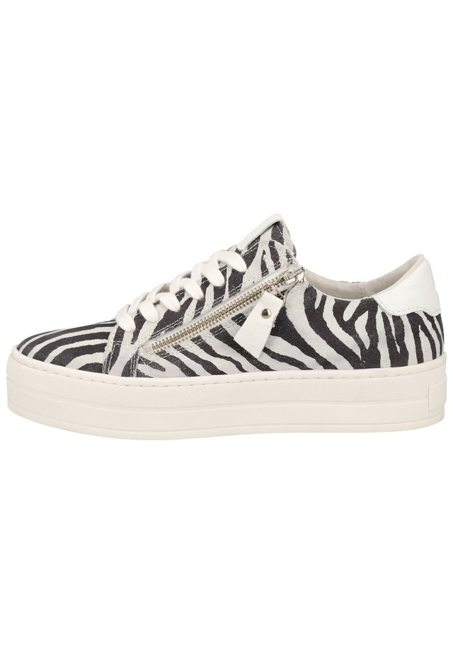 STEVEN NEW YORK BY SPM SNEAKER - Baskets basses - zebra white 12379