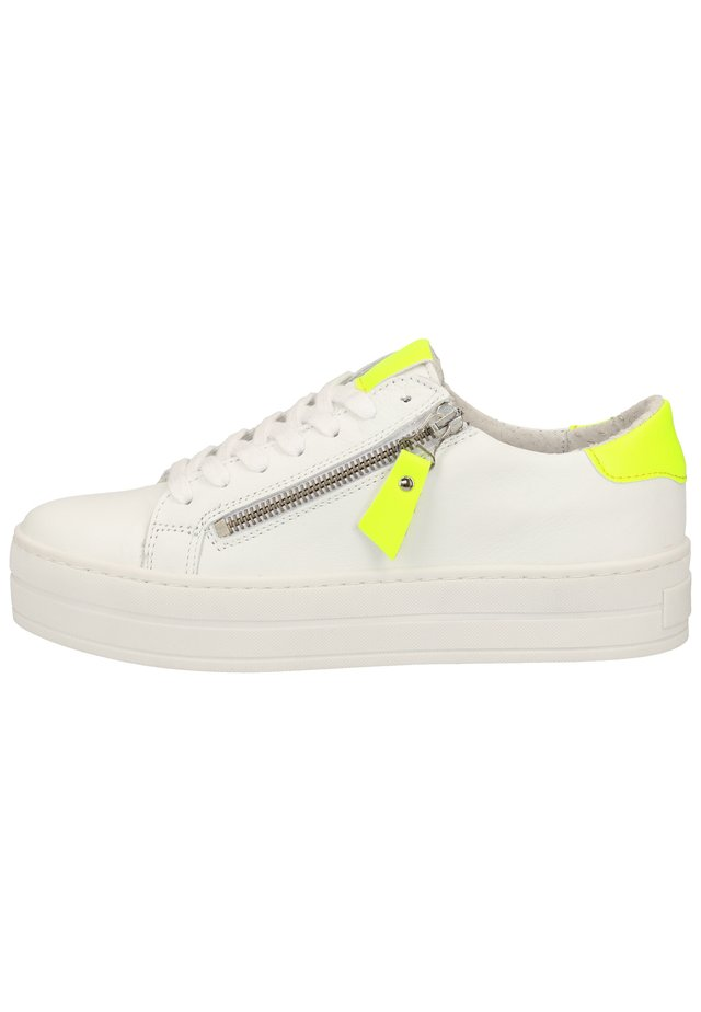 STEVEN NEW YORK BY SPM SNEAKER - Baskets basses - white yellow 02320