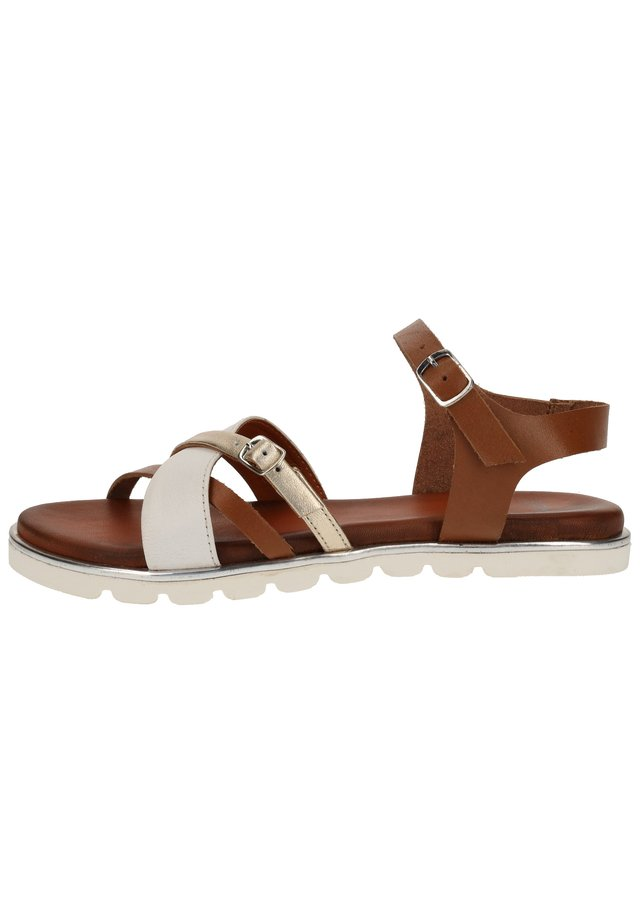 STEVEN NEW YORK BY SPM SANDALEN - Sandals - white combi 02330