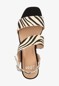Steven New York by SPM - STEVEN NEW YORK BY SPM SANDALEN - Sandals - zebra black 02340 - 1