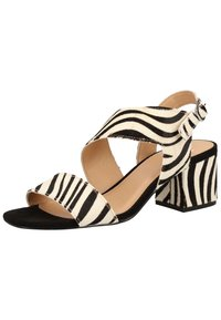Steven New York by SPM - STEVEN NEW YORK BY SPM SANDALEN - Sandals - zebra black 02340 - 2