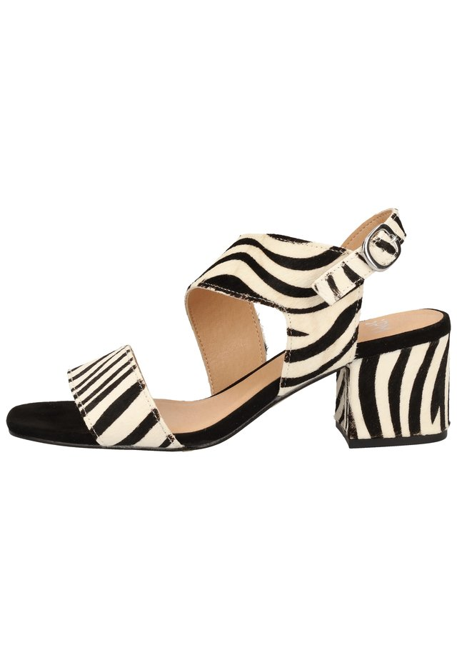 STEVEN NEW YORK BY SPM SANDALEN - Sandals - zebra black 02340
