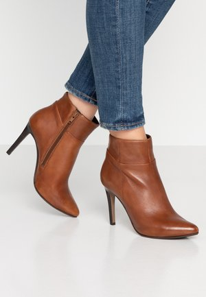 NOLINA - High heeled ankle boots - cognac