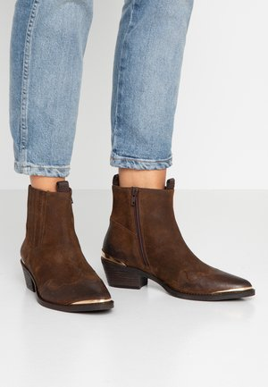 HEDIL - Cowboy/biker ankle boot - dark brown