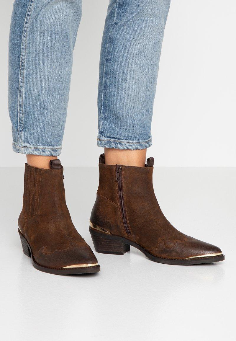 SPM - HEDIL - Cowboy- / bikerstøvlette - dark brown