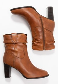 Steven New York - JUNGSTER - Classic ankle boots - cognac - 3