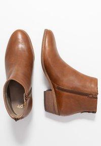 Steven New York by SPM - MAIZIP - Ankle boots - cognac - 3