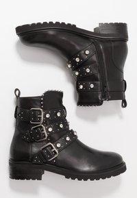 Steven New York - HARMONY - Kovbojské/motorkářské boty - black - 3