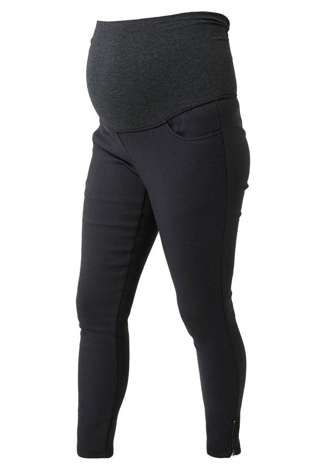DAEL FAUX FUR PANTS - Tracksuit bottoms - grey