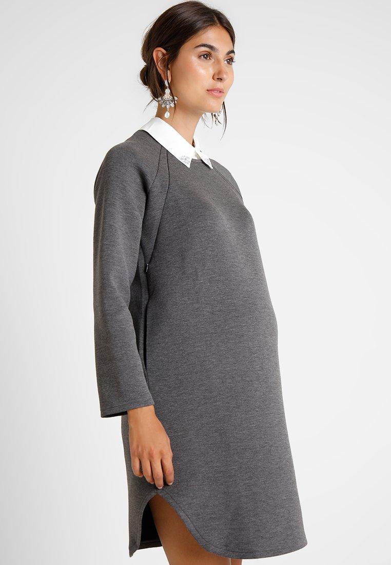 Spring Maternity - LONG SLEEVES DANNON DRESS - Day dress - heathrey grey