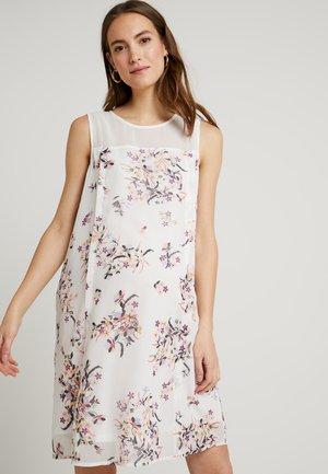 CAYLEE BACK OVERLAP DRESS WHITE FLORAL - Kjole - white