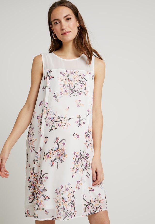CAYLEE BACK OVERLAP DRESS WHITE FLORAL - Vapaa-ajan mekko - white