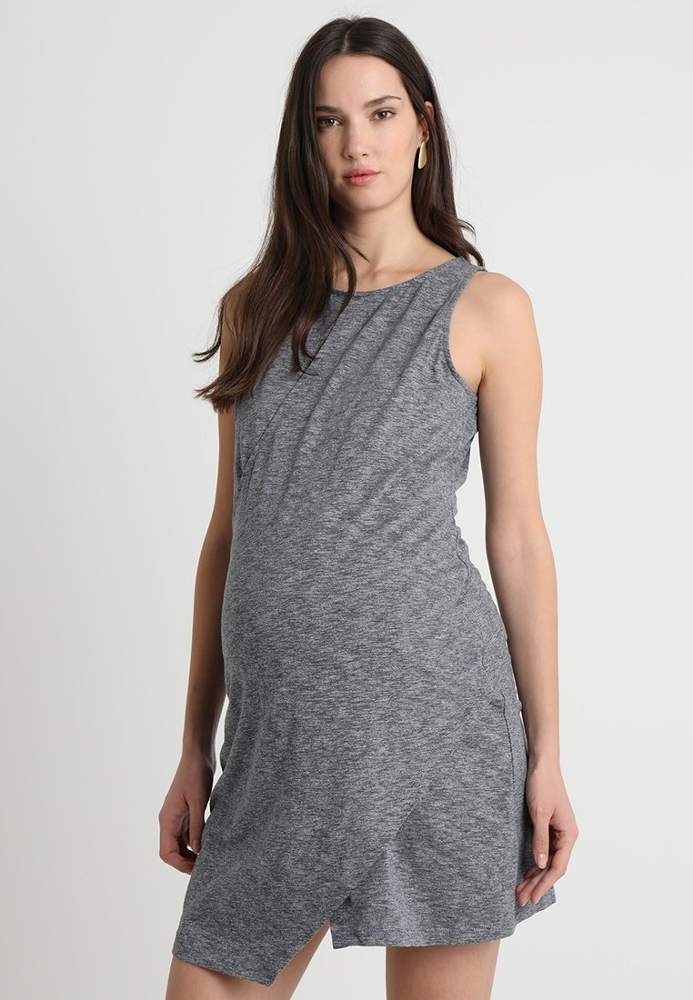 Spring Maternity - SLEEVELESS BYANCA OVERLAPPING DRESS - Vestido de tubo - grey