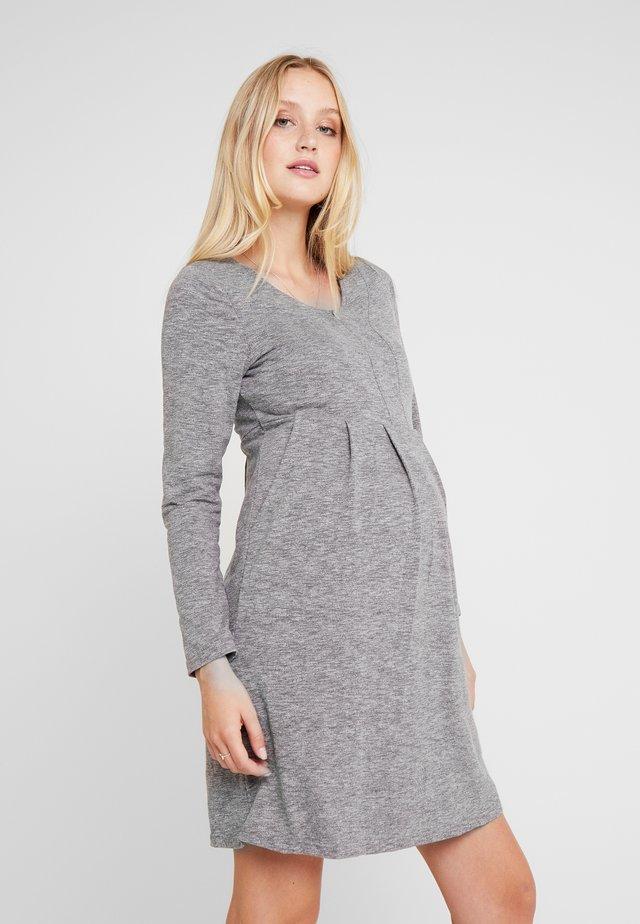 BENTE DRESS - Trikoomekko - grey