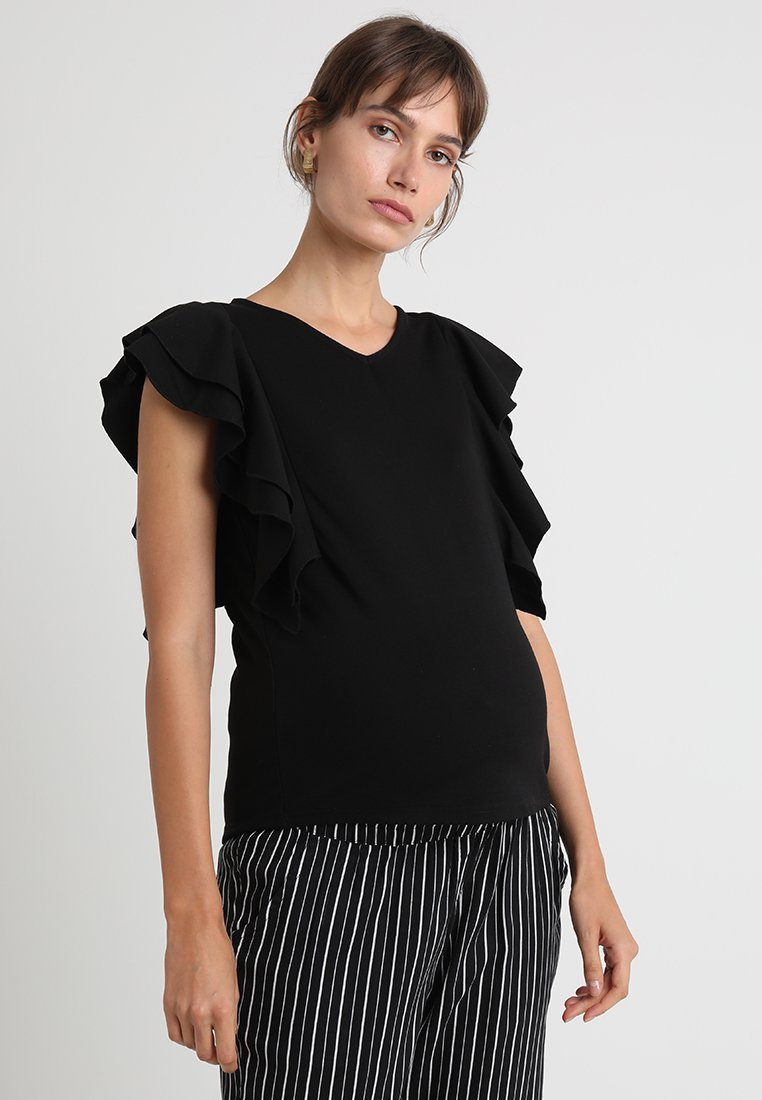Spring Maternity - SLEEVES CRISSY  - Print T-shirt - black