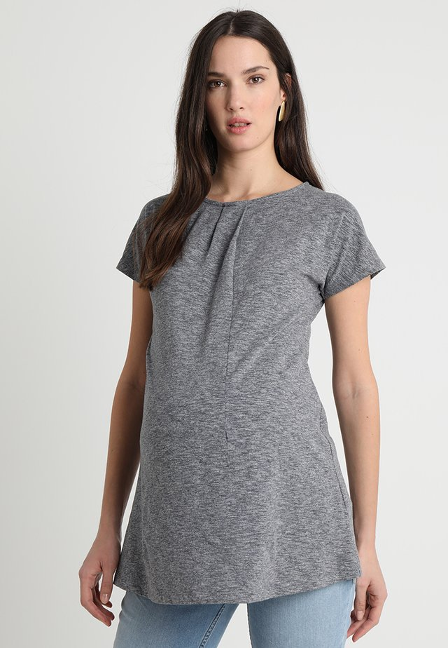 SHORT SLEEVES BRIANA - T-shirts med print - grey