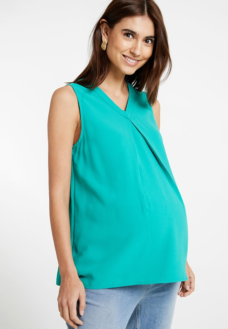 Spring Maternity - CHRISTIANA BACK BOW TOP - Bluser - green