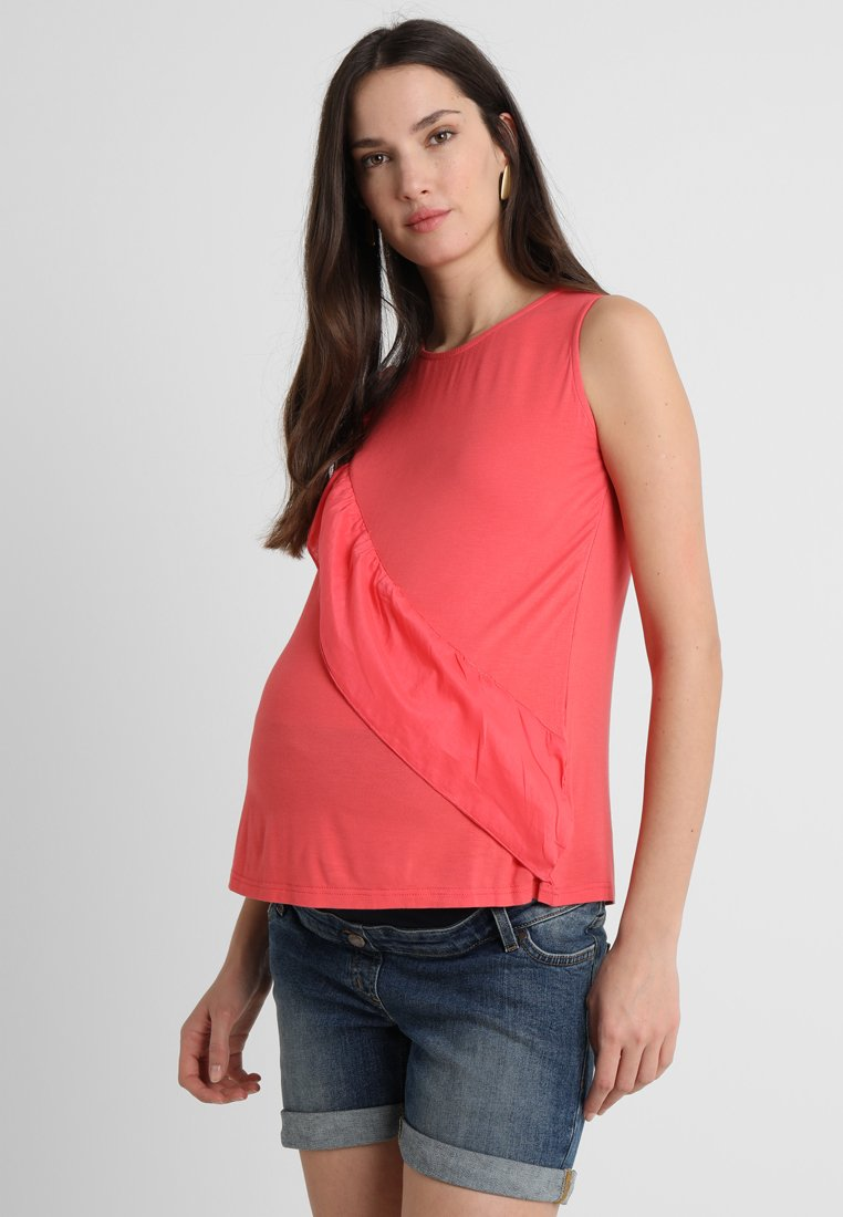 Spring Maternity - SLEEVELESS CALIANA FRILLS TOP - Top - tulip pink