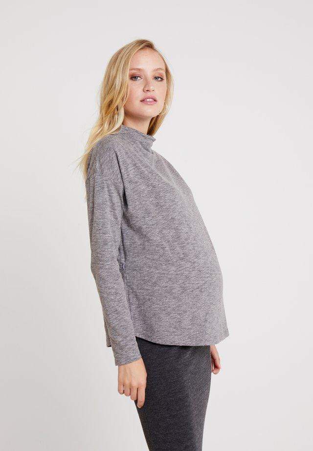 DARIEL TEE - Long sleeved top - grey