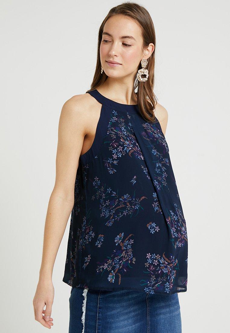 Spring Maternity - CARDEN HALTER NURSING - Bluse - navy