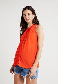 Spring Maternity - EDYTH TANGERINE - Blouse - orange - 0