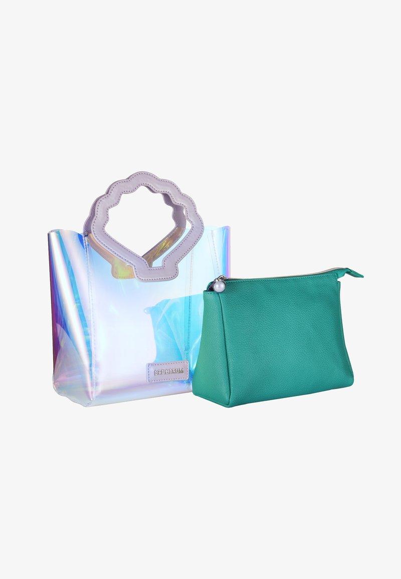 Spectrum - OCEANA SHELL MAKE UP & HANDBAG - Kosmetiktasker - turquoise
