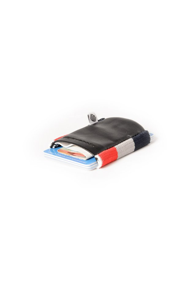 Wallet - schwarz/dunkelblau-grau-rot