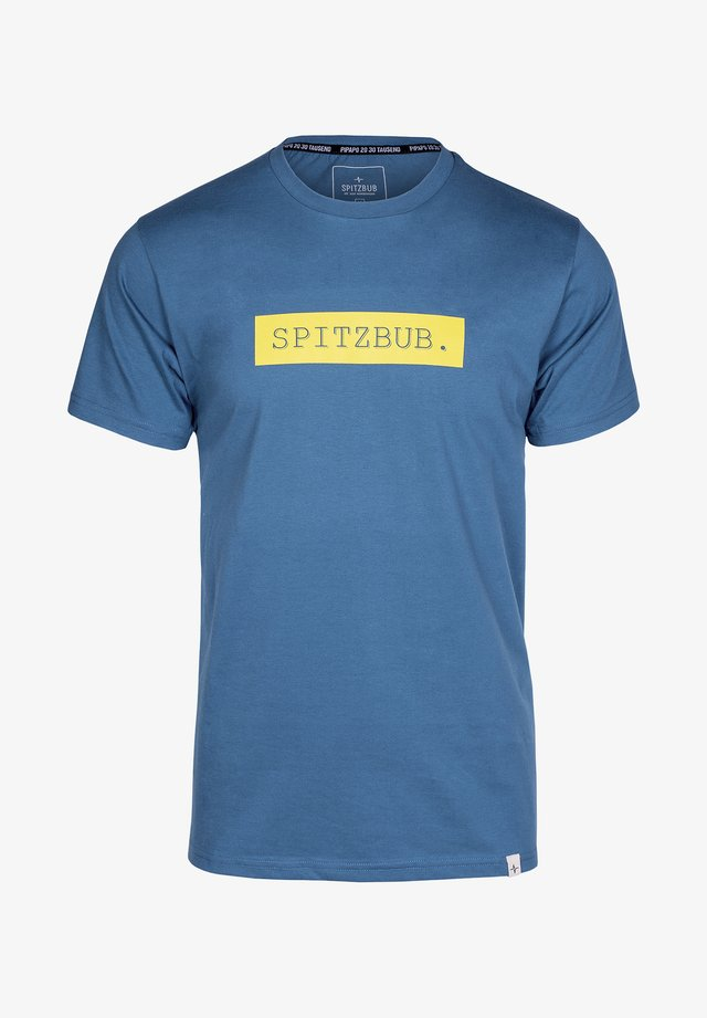 EBERHARDT - Print T-shirt - blue/yellow