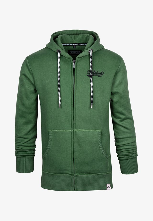 NORMAN - Zip-up hoodie - green