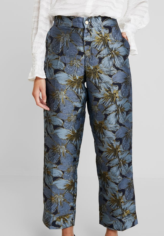 IVONE - Trousers - autumn flowers