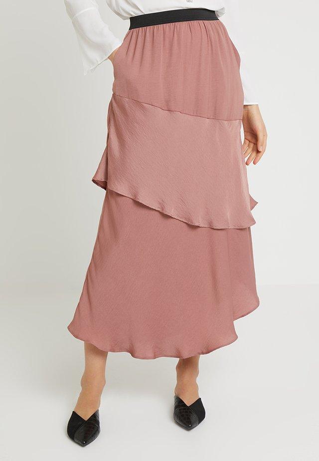 SAMOUR - A-line skirt - burlwood