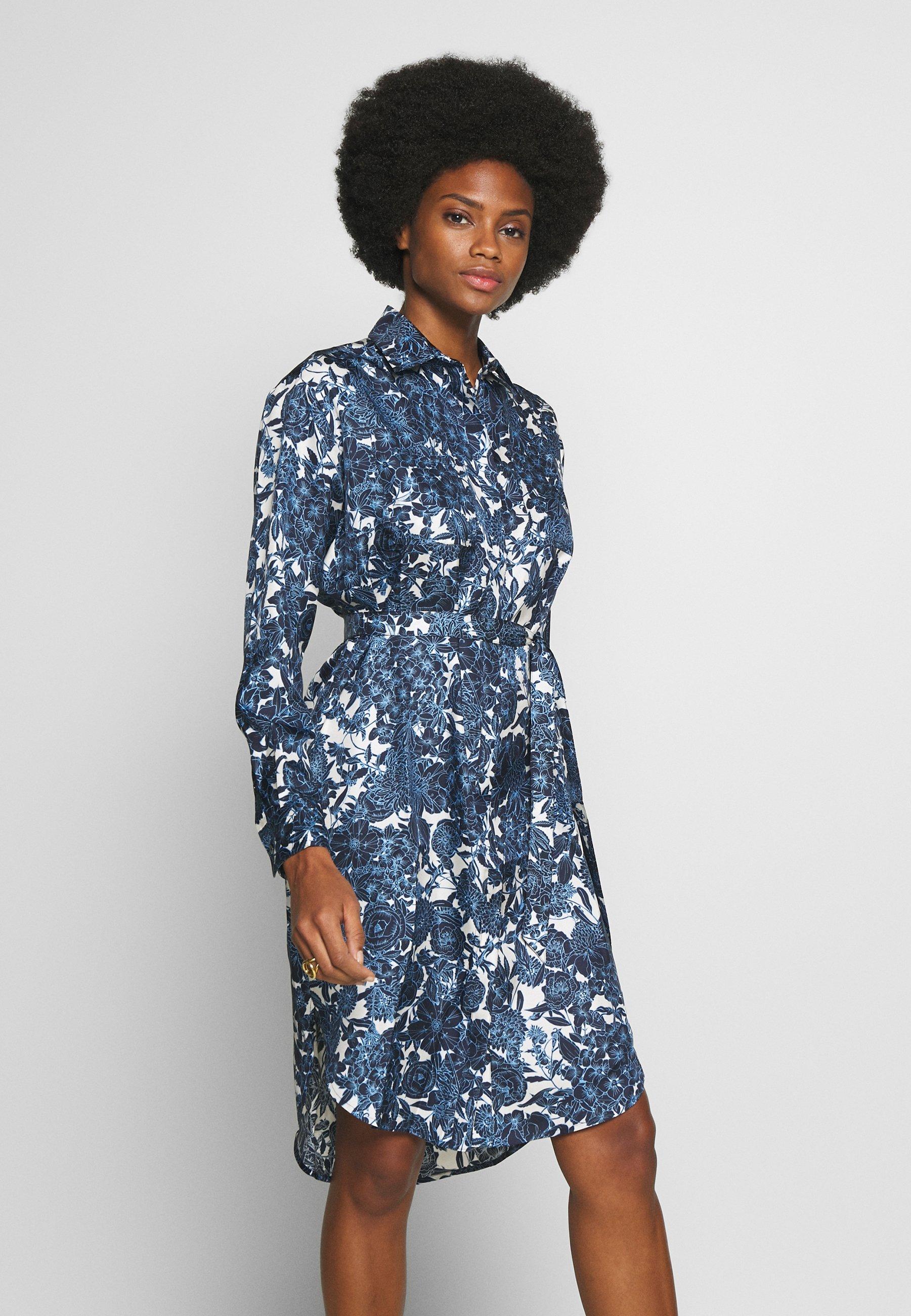 Six Ames FELICIA - Sukienka koszulowa - blue