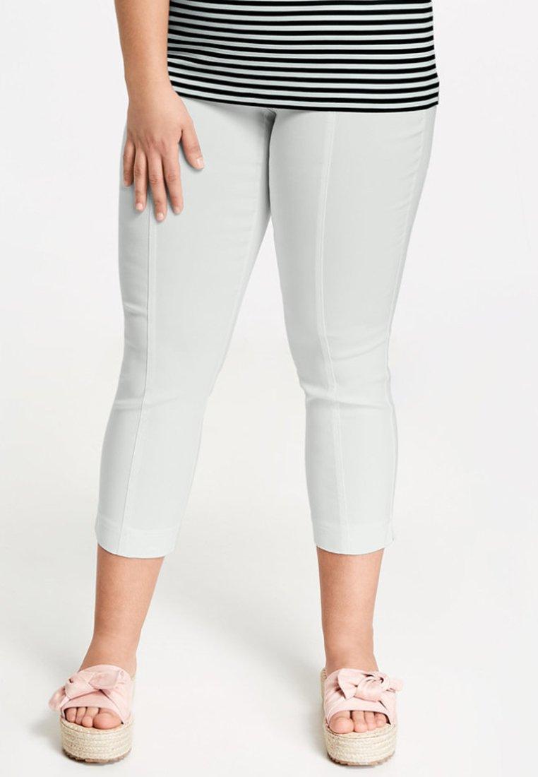Samoon - Stoffhose - white