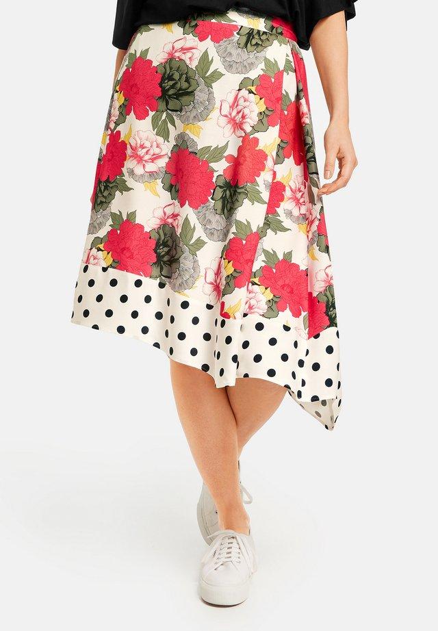A-lijn rok - bright rose gemustert