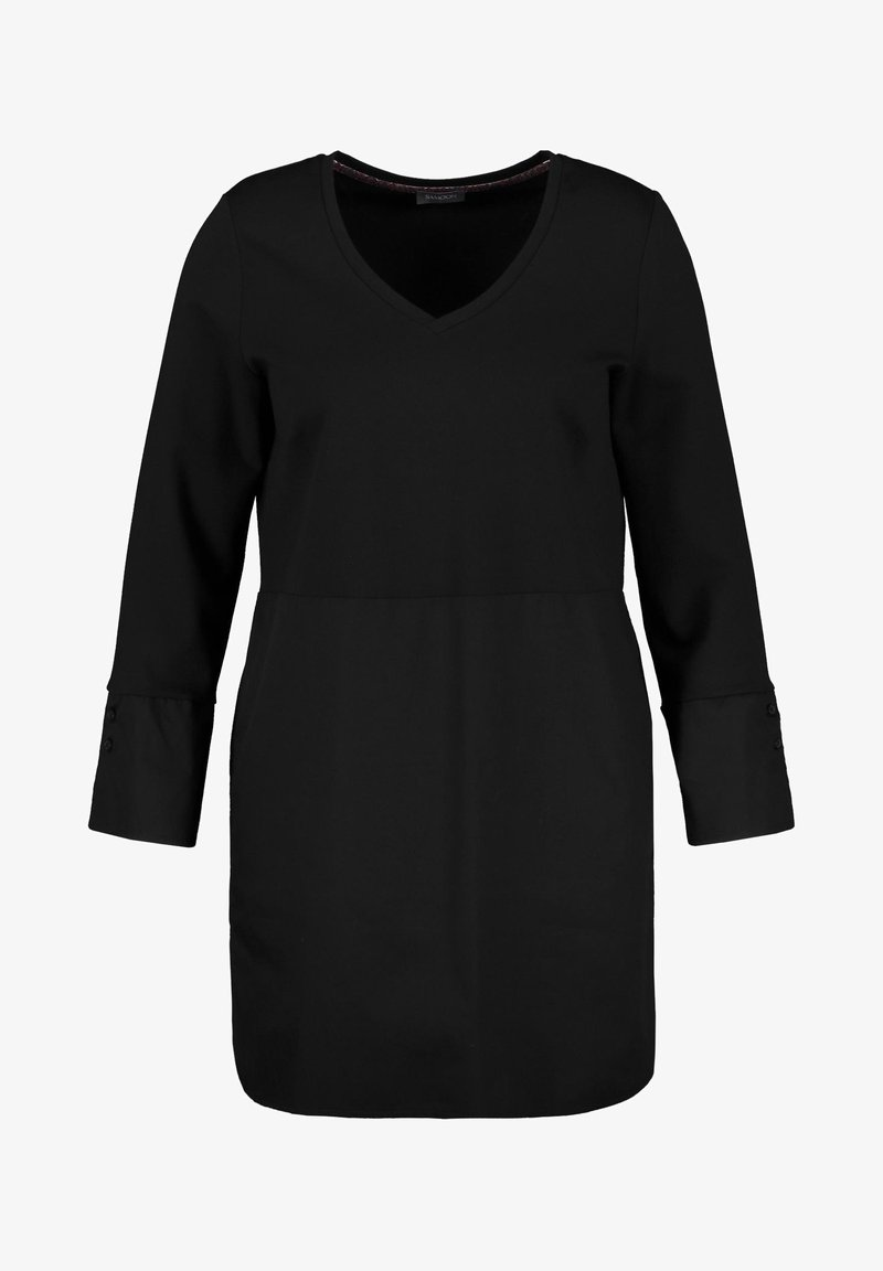 Samoon - MIT MATERIAL-PATCH - Day dress - black