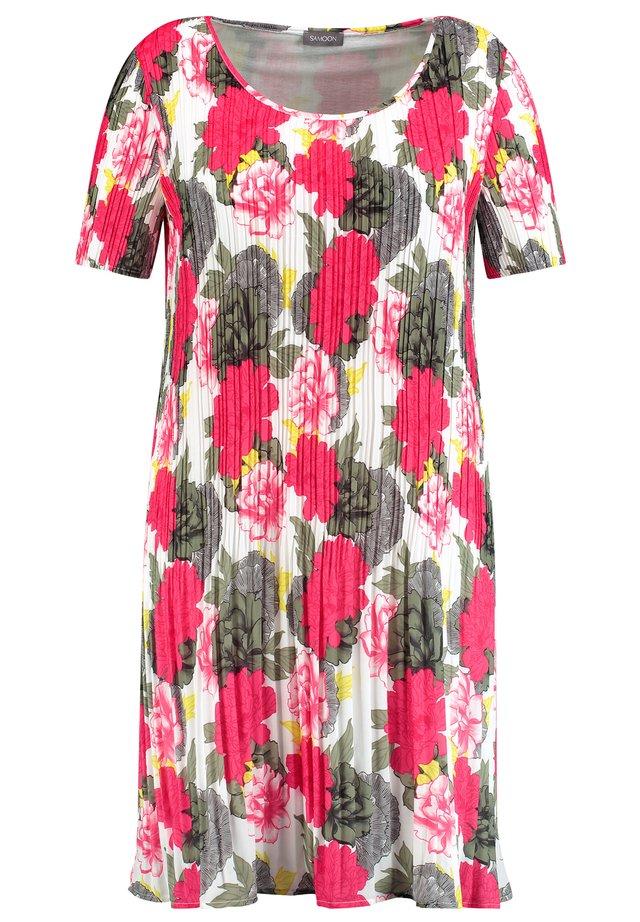 Korte jurk - bright rose gemustert