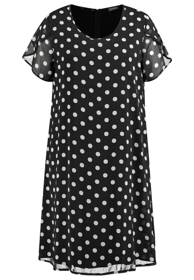 MIT POLKA DOTS - Robe d'été - black gemustert