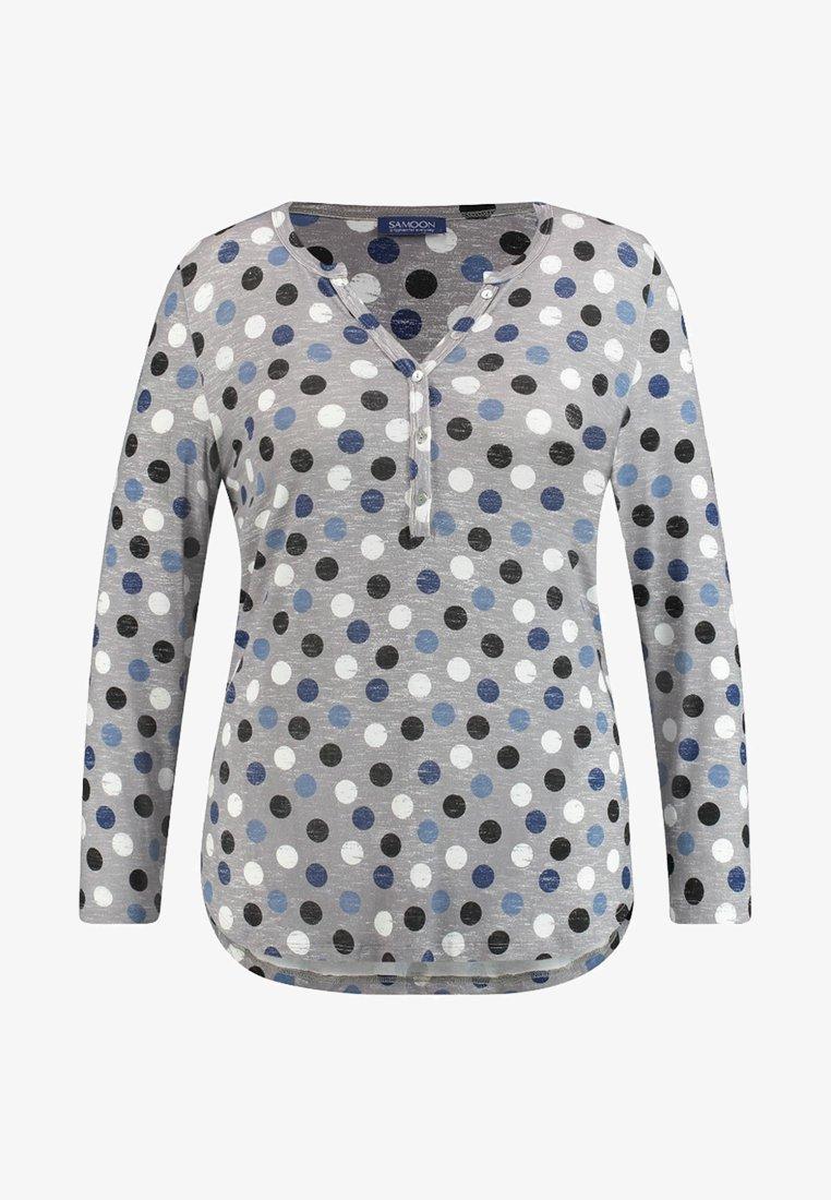 Samoon - Long sleeved top - grey