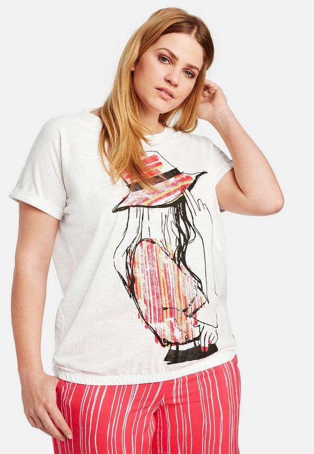 MIT ELASTISCHEM SAUM ORG - T-shirt imprimé - white