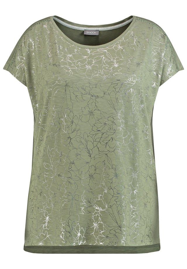 T-shirt imprimé - cactus green