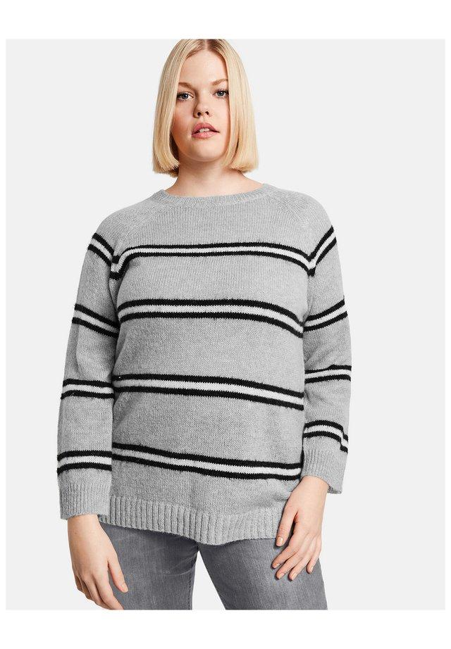 Pullover - grau/gelb ringel