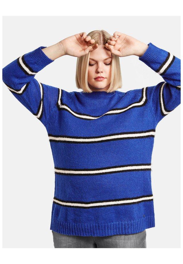 Pullover - blau ringel